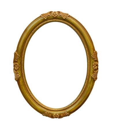 ovalo: foto ronda marco aislado en el fondo blanco
