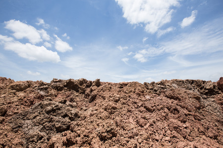 soil ground for farmer with sky background photo