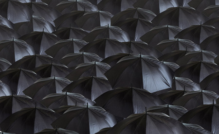 image of many black umbrellas photo