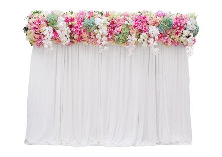 wedding backdrop: sfondo di nozze isolato su sfondo bianco Archivio Fotografico