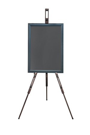 Black chalk board isolated on white background Standard-Bild - 111237068