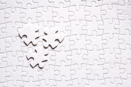 White jigsaw background pattern