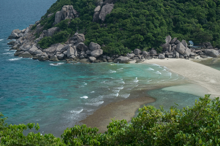 Calm wave at the beach of Nangyuan Island Stok Fotoğraf
