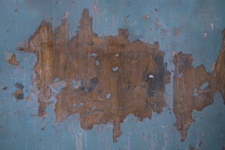 Wooden board with color pealed off showing wood texture, old vintage industrial rustic style wall decoration interior Stok Fotoğraf