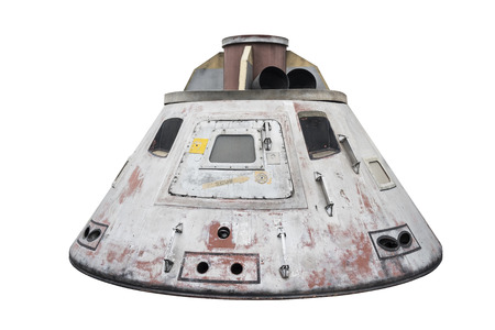 Space capsule isolated with clipping path on white background Banque d'images