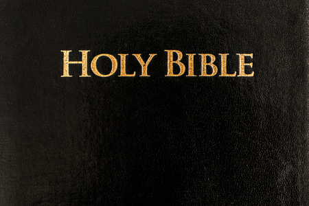 Gold letter HOLY BIBLE in leather book cover