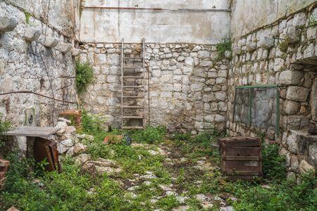 Abandoned stone house in Croatia