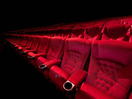Teather red seat in dark environment