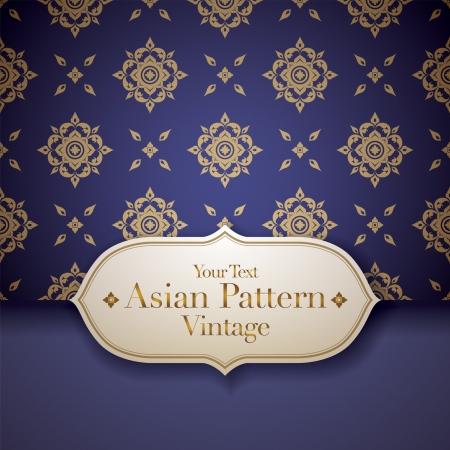 Thai Art Hintergrund, Thai-Art-Muster