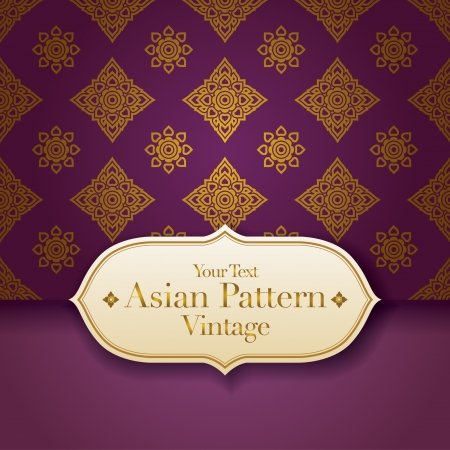 Thai Art Background, Thai art pattern  Vector