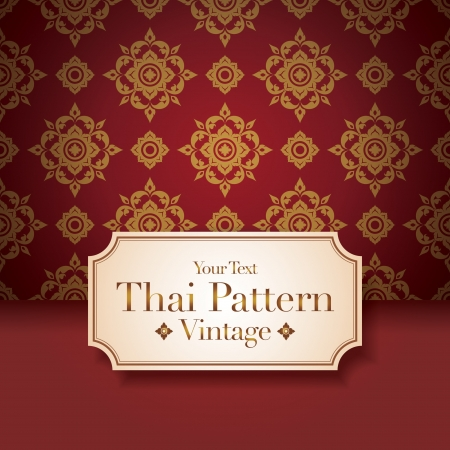 Thai Art Background, Thai art pattern. Stock Vector - 19116112