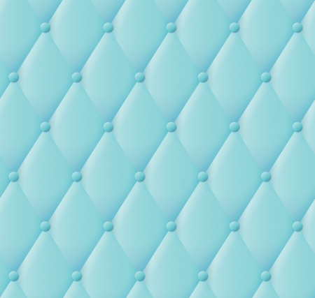 tufted: Vector abstract turquoise blue upholstery background.