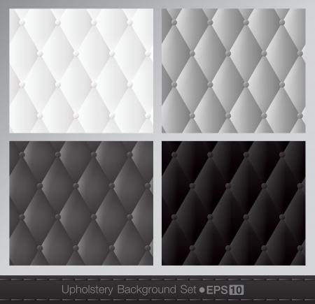 diamond background: Vector abstract upholstery background  Black and white set