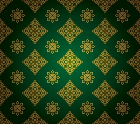 thailand silk: Thai traditional art  Thai Art Background, Thai art pattern, Vector  Illustration