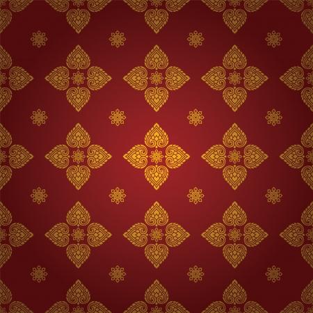 Thai traditional art  Thai Art Background, Thai art pattern, Vector  Illustration