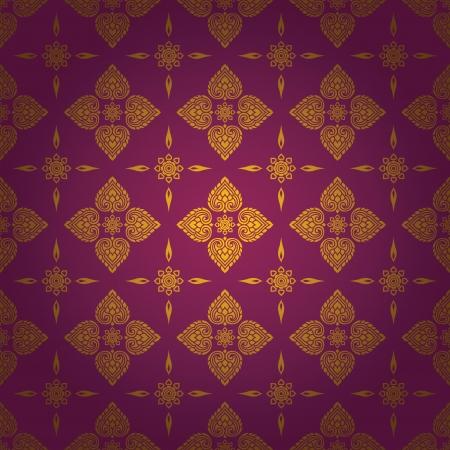 thai silk: Thai traditional art  Thai Art Background, Thai art pattern, Vector  Illustration
