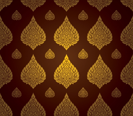 Thai traditional art  Thai Art Background, Thai art pattern, Vector Stock Vector - 19224692