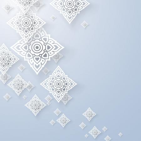 태국 전통 예술 태국어 아트 배경, 태국 아트의 패턴, 벡터