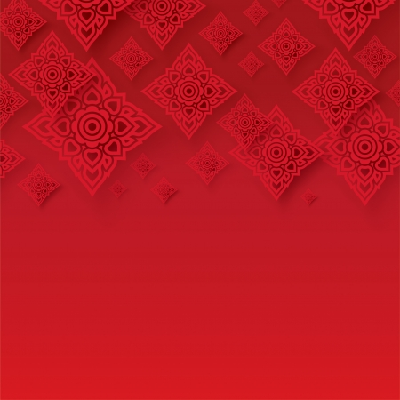 contemporary style: Thai traditional art  Thai Art Background, Thai art pattern, Vector  Illustration
