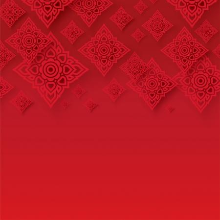 Thai traditionelle Kunst Thai Art Hintergrund, Thai-Art-Muster, Vektor Illustration