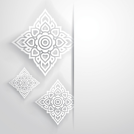 style: Thai traditional art  Thai Art Background, Thai art pattern, Vector  Illustration