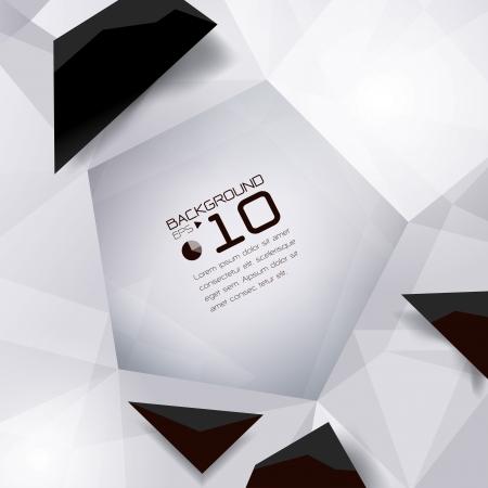 quartz crystal: Polygonal design - Abstract geometrical background