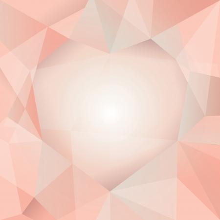 quartz crystal: Polygonal design - Abstract geometrical background   Illustration
