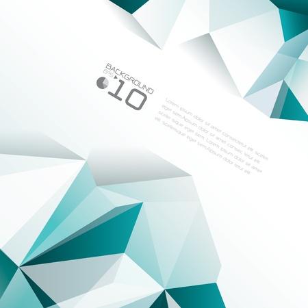 portada de revista: Dise�o poligonal - Fondo abstracto geom�trico