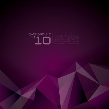 purple: Polygonal design - Abstract geometrical background   Illustration
