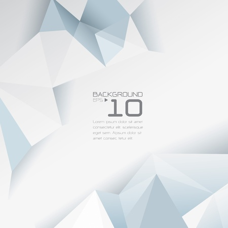 crystal: Polygonal design - Abstract geometrical background   Illustration