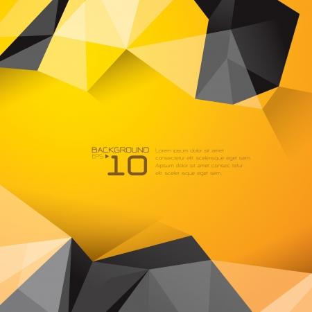 多角形の設計 - 抽象的な幾何学的な背景  イラスト・ベクター素材