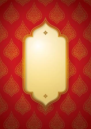 seta thailandese: Cover Design asiatico Vector arte tradizionale