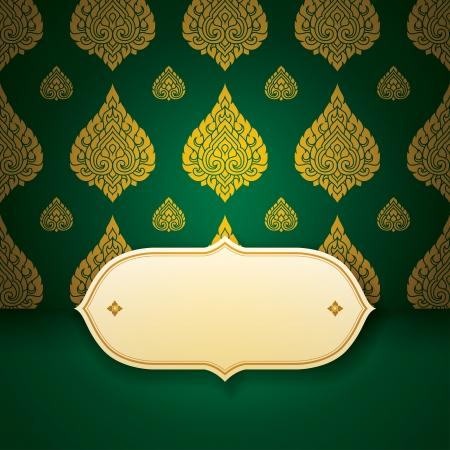 thai silk: Asian  tradition art pattern cover design