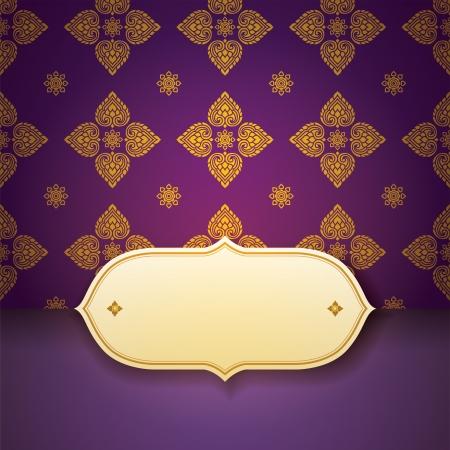 Asian tradition art pattern cover design  Illustration