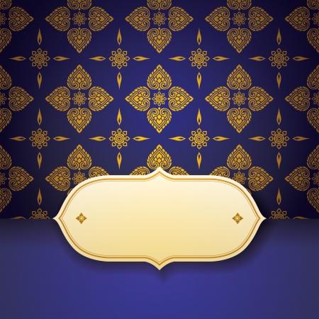 Asiatischer Tradition art pattern cover design Illustration