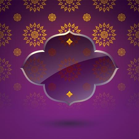 seta thailandese: Asian cover design pattern di tradizione artistica Vettoriali