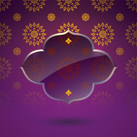 Asian tradition art pattern cover design  Vector