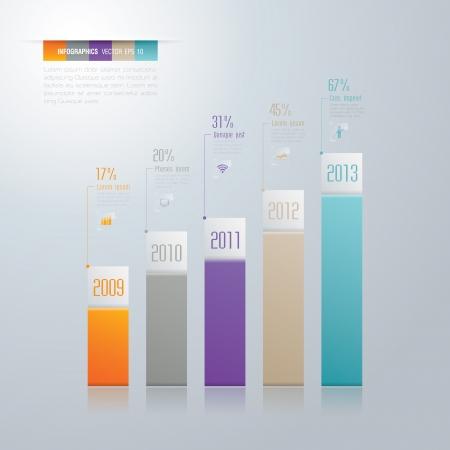 graph paper: Infographics vector design template