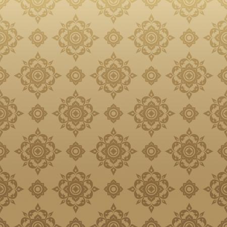 pattern background: Thai Art Background vector, Thai art pattern vector  Illustration