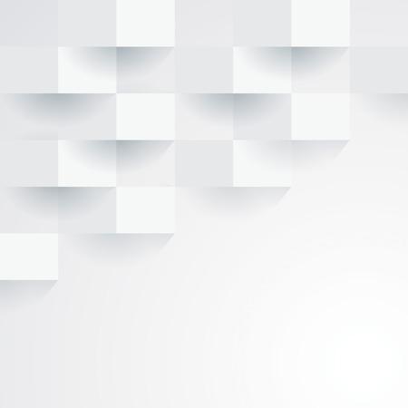 白の幾何学的な壁紙の背景  イラスト・ベクター素材