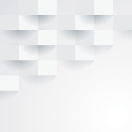 gray pattern: White geometric wallpaper background  Illustration