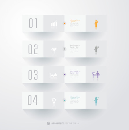 Infographics vector design template  Modern business step origami style options banner
