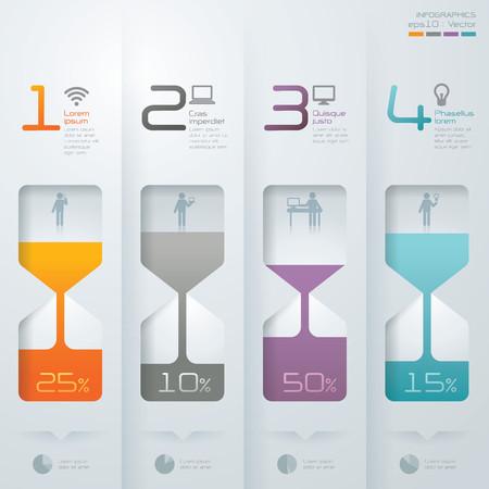 Infografik Vektor Entwurfsvorlage