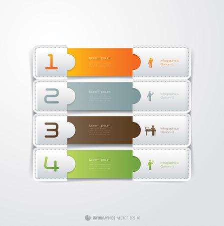 Infografik Vektor Entwurfsvorlage Modern business Schritt Glas Stiloptionen banner