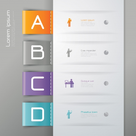 visual information: Infographics design template