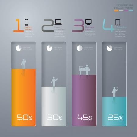bar chart: Infographics vector design template
