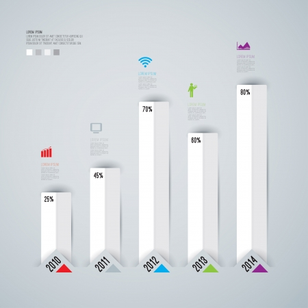 graph paper: Abstract 3D digital illustration Infographic   Illustration