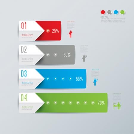 Abstract 3D digitale Illustration Infografik