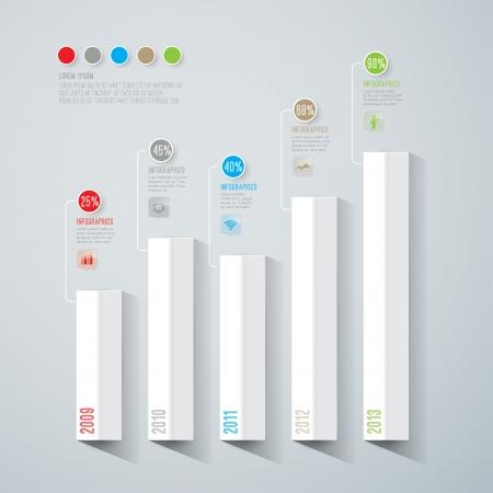 Abstract 3D digital illustration Infographic   Illustration