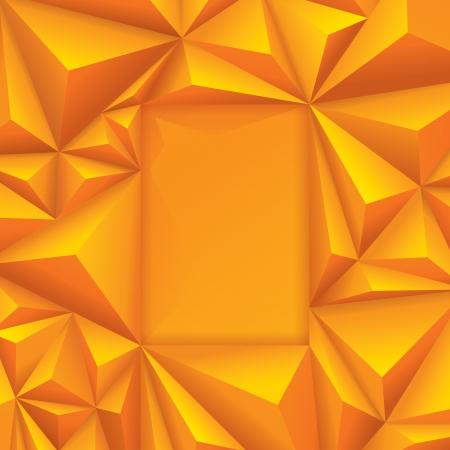 border tile: Yellow geometric background